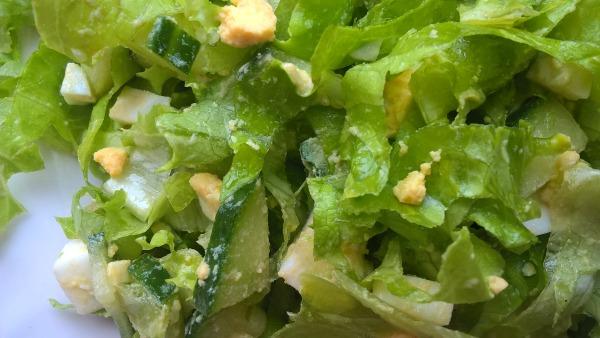 Легкий салат на скорую руку