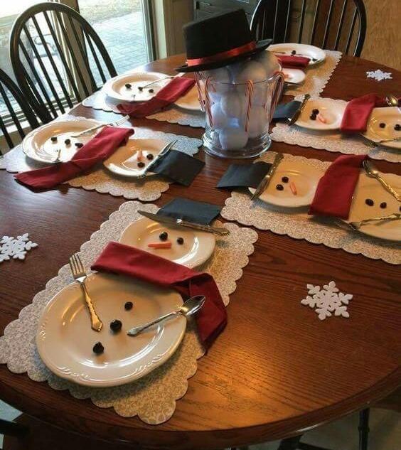 Снеговик своими руками и улыбка